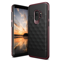 Чехол Caseology Parallax для Galaxy S9 Black / Burgundy